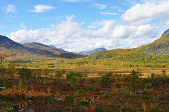 Bergen ten zuidenwesten van Kvikkjokk